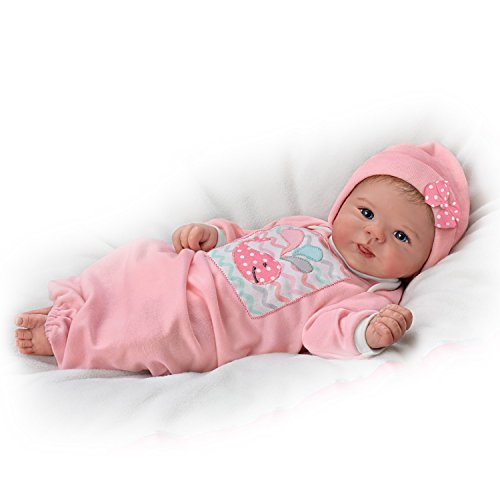Violet Parker Lifelike Baby Girl Doll Weighted for Realism by The Ashton-Drake (Ashton Drake Newborn Doll)
