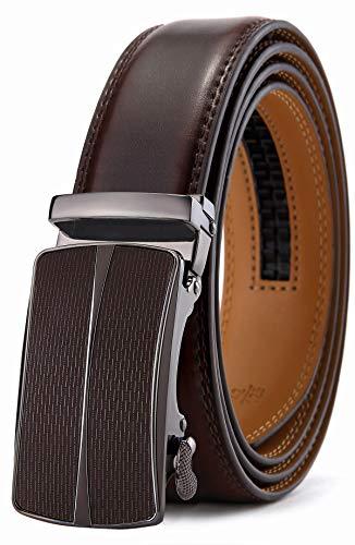 Men's Belt,Bulliant Slide Ratchet Belt for Men Genuine Leather, Trim to Fit (Best Place To Sell Tv)