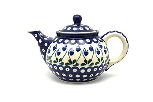 Polish Pottery Teapot - 3/4 qt. - Bleeding Heart