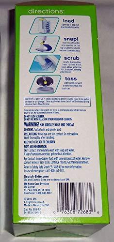 Scotch Brite Toilet Scrubber Refills 3 Boxes of 10 Each Value Bundle Pack Click N Flip