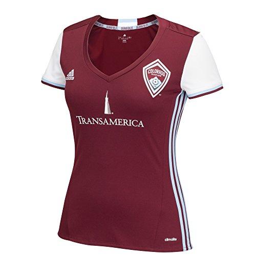 MLS Colorado Rapids Women's Replica Short Sleeve Team Jersey, Dark Burgundy, ()