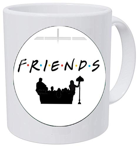 Friends TV Show Necklace Fun Cartoon Letter Printed Glass Dome Pendant Necklace Fashion Jewelry Coffee Mug