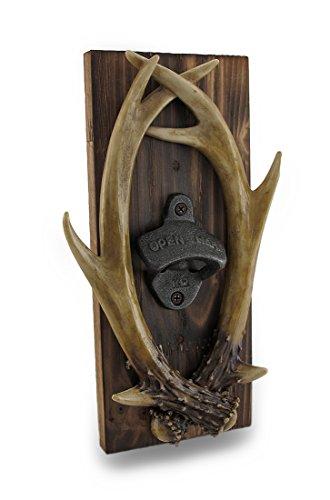 Wall Mounted Deer Antlers Western Saloon Bottle Opener ()