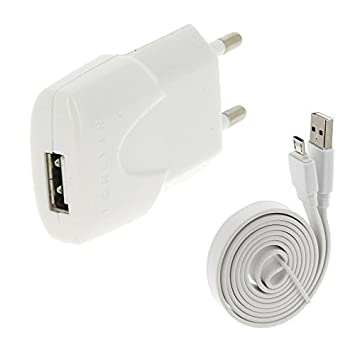 Acce2S - Cargador para LG K10: & cable usb blanco 1 A ...