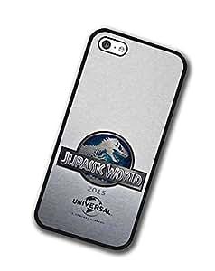 Premium Apple Iphone 5c Funda Carcasa Back Case Jurassic World dura plastico Rose dorada Retro Muster lujo negro Carcasa Movie For Girls
