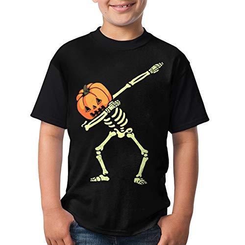 (Phoenix Powell88 Kids Lightning Dabbing Halloween Customized O-Neck T Shirts for Boys Girls Black)