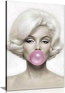 Panther Print Marilyn Monroe - Lienzo para Pared (24 x 16)