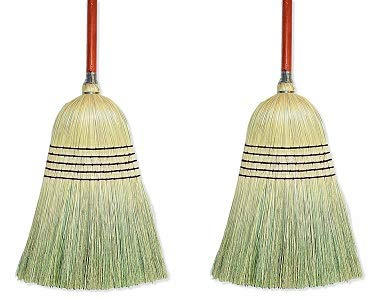 Wilen E502036, Warehouse Corn Blend Broom with 1-1/8'' Handle, 32# Size, 56'' Length (Case of 6) (2-(Pack))