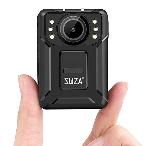 SWZA M2 1440P HD Police Body Camera,128G Memory,Ambarella H22 Chipset,Portable Body Camera with Audio Recording,Night Vision,Waterproof Body Worn Camera