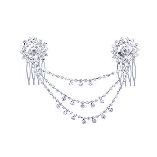 LY8 Forehead Jewelry for Women Bridal Headband Crystal Headpiece Head Chain Hair Comb Wedding Accessories ()