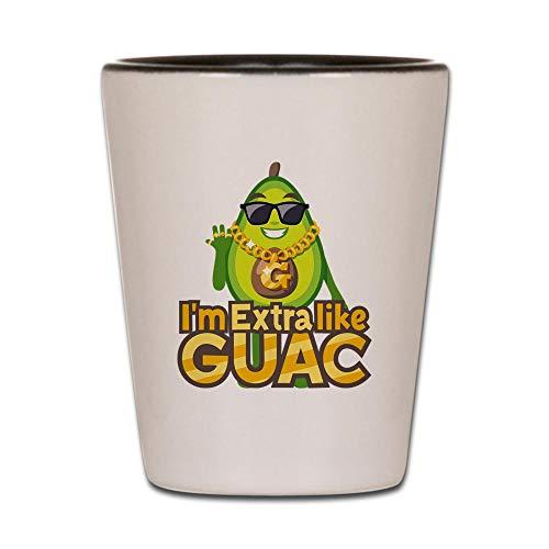Avocado Glass - CafePress Emoji Avocado Extra Like Guac Shot Glass, Unique and Funny Shot Glass