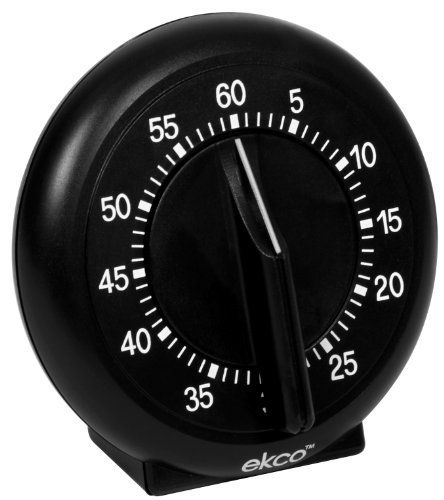 Ekco 60 Minute Dial Timer, Black 60 Minute Dial Timer