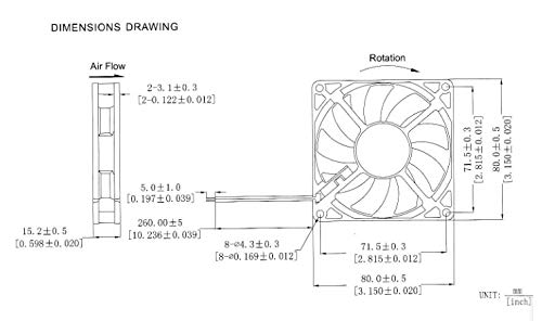 REFIT DC 12V 80MM 8CM cm cm 80x80x15 Chassis Power Supply 4pin Interface Cooling Fan