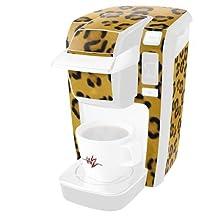 Leopard Skin Long - Decal Style Vinyl Skin fits Keurig K10 / K15 Mini Plus Coffee Makers (KEURIG NOT INCLUDED)