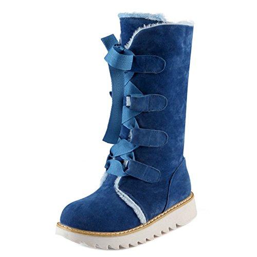 COOLCEPT Damen Stiefel Schnurung Blue