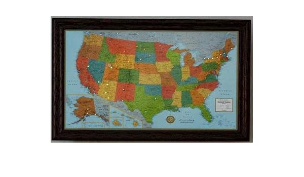 United States Map Picture Frame.Amazon Com Lightravels Illuminated United States Map With Frame
