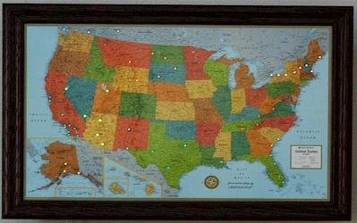 Amazon.com : Lightravels Illuminated United States Map with ...
