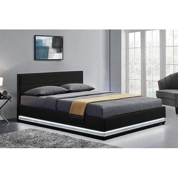 LOdin - Estructura de cama, con baúl, somier y led integrada ...