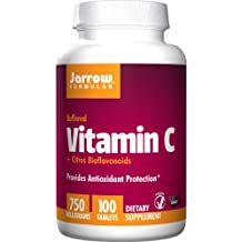 Jarrow Formulas Buffered Vitamin C + Bioflavanoids, 750 mg, 100 Tablets