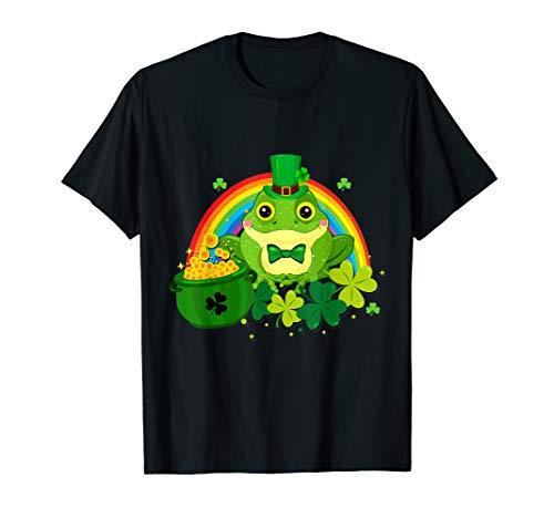 Frog Leprechaun Irish Gold Shamrock Shirt