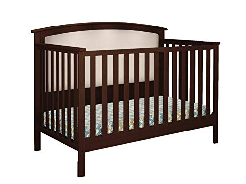 Belle Isle Furniture Bentley Upholstered Convertible Crib Espresso/Beige Linen