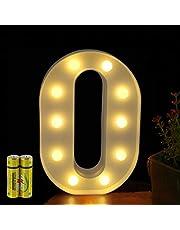 HONPHIER®, letterverlichting, alfabet lamp, LED-verlichting, letterverlichting, verlichte letters, nachtverlichting, decoratie voor verjaardag, feest, bruiloft, kinderkamer