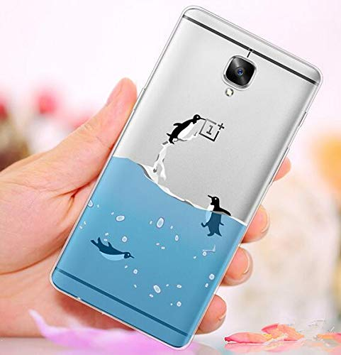 Soft back case for Oneplus three TPU cartoon painted cover slim clear case  anti fall shell YJ366 QE