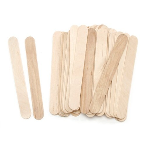 "ArtWall Darice Jumbo Wood Craft Sticks – Natural Color – Perfect for Craft Projects – Sturdy Wood Sticks Used for Kids Projects, Classrooms, Home, Garden and More – 5 3/4"" Long, 45 Per Pack ()"