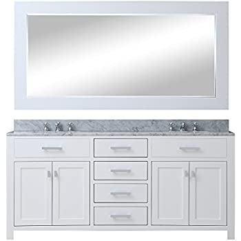 Water Creation MADISON 60WB 60-Inch Solid White Double Sink ...