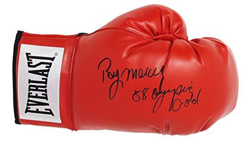 Ray Mercer Signed Everlast Red Boxing Glove w/88 Olympic Gold (Olympic Boxing Gloves)
