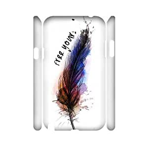 Feather Quote Fly Brand New 3D Iphone 5C ,diy case cover ygtg617113
