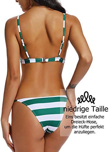 Sonnencreme Set Push Und grün Up Bikini Meersalz Chlor Streifen Muscheln Design Badeanzug Gegen 1qaxnpwvR