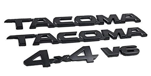 (New Matte Black Painted Door Emblem 4Pcs Badge For 05-17 Toyota)