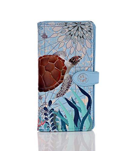 (Swimming Turtle Wallet (Blue))