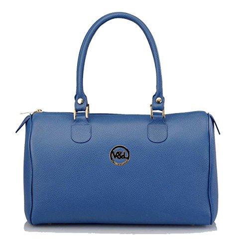 Lady Bag Made Victorio & Lucchino Blue Ubrique