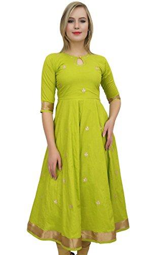 337c152718f264 Amazon.com  Bimba Designer Anarkali Kurta Indian Ethnic Gota Work Cotton  Kurti  Clothing
