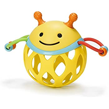 Skip Hop Explore and More Roll Around Rattle Toy, Bee