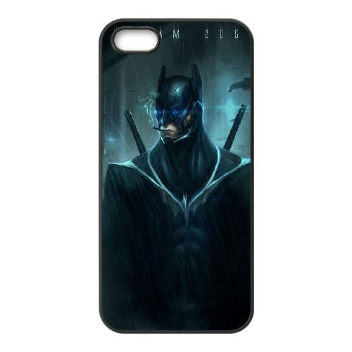 Batman coque iPhone 5 5S Housse téléphone Noir de couverture de cas coque EBDOBCKCO09973