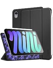 CACOE Magnetisch hoesje compatibel met iPad Mini 6 2021, ultradunne cover met standfunctie Auto Sleep/Wake Up beschermhoes, zwart