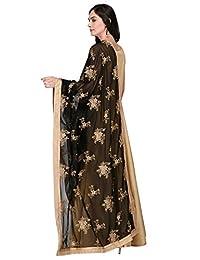 Dupatta Bazaar Woman's Georgette Dupatta with Gold Embroidery.