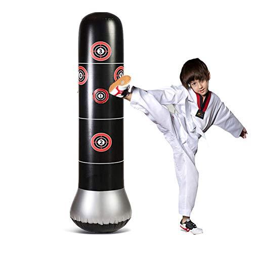 CXSMKP Red Punching Bag with Stand for Adult Punch Bag Set Horizontal Bar Mount Hook Hanger Suitable for Boxing Sanda Taekwondo Karate Martial Arts Distance Between Door Frames,90cm