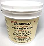 Clear Water-Based Grain & Pore Filler - 1 Gallon By Goodfilla   Innovative &   Compliments All Woodworking Finishing Products   Paintable, Stainable, Sandable & Quick Drying