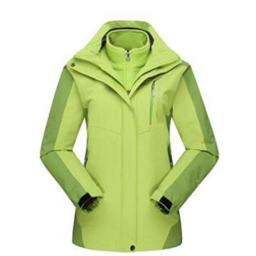 Pezzi Felpa Alpinismo Winter Peluche Green Una Woman In Due Tre Giacche Caldo qztWgwtFZ