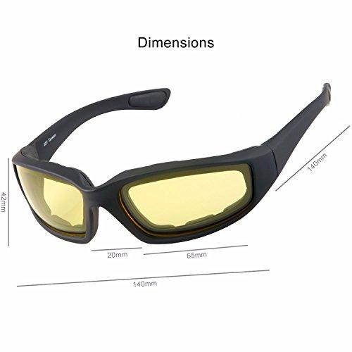 8136f0cb03c WYND Blocker Motorcycle   Biking Wind Resistant Sports Wrap Sunglasses