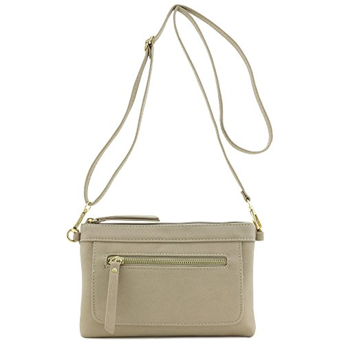 Multi-functional Wristlet Clutch and Crossbody Bag - Messenger Dove