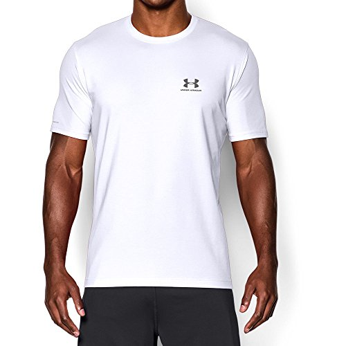 Under Armour Men's Charged Cotton Left Chest Lockup T-Shirt, White /Graphite, XXXX-Large by Under Armour (Image #4)