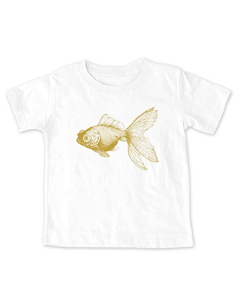 da649d8b2572 Amazon.com  cute   funny Goldfish Graphic (Fish 03) Ocean Beach Baby ...