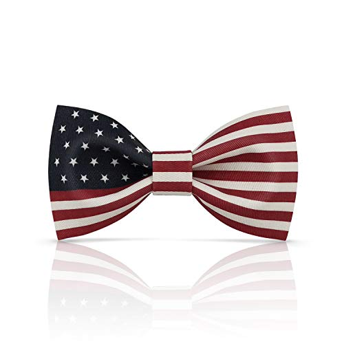 Lanzonia Boy's Bowtie Novelty U.S. American Flag USA. Patterned Bow Tie for Kids