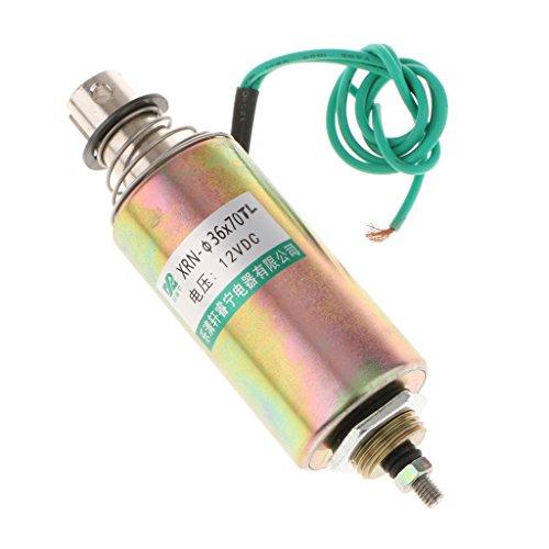 Jili Online DC 12V 10mm Stroke 1kg Force Push Pull Type Tubular Solenoid Electromagnet by Jili Online (Image #3)