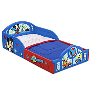 Delta Children Deluxe Character Toddler Bed with Attached guardrails, Featuring Minnie Mouse, Mickey Mouse 5